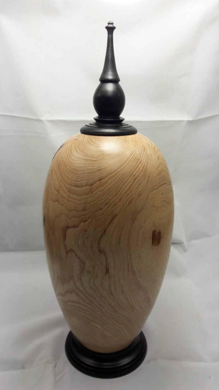Ash Hollow Form - Turned wood