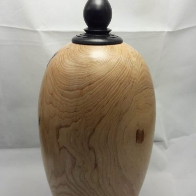Ash Hollow Form - Turned wood - 350mm high x 125mm - by Iain Grant