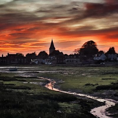 Sunset, Chichester Harbour - Giclee Print (photo) - 8x8
