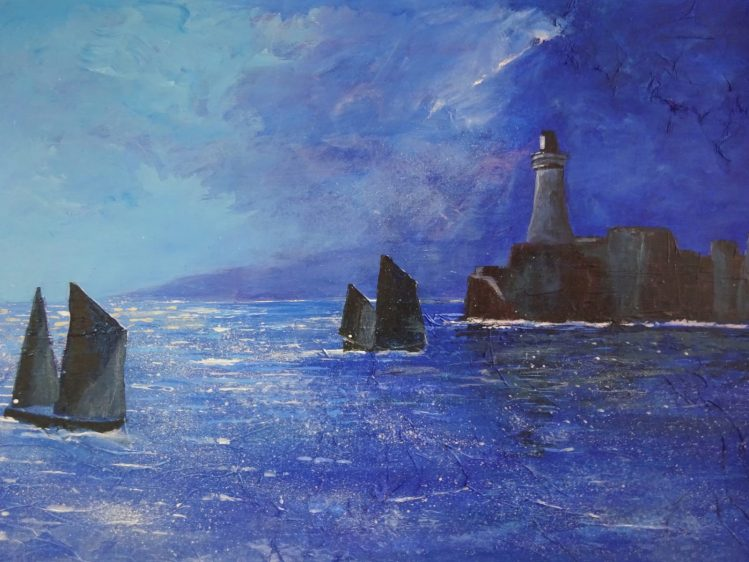 Lighthouse Seascape - Acrylic