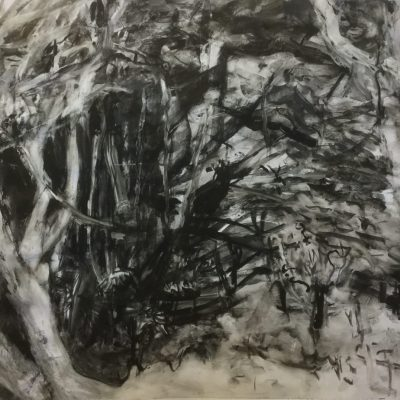 Untitled (Woodland) 2018 - gouache on paper - 40 x 60 cms - by Elsie Green
