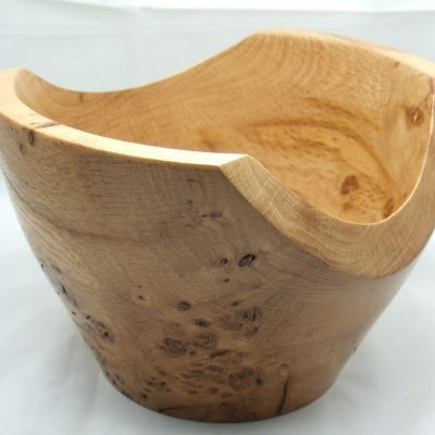 Oak Burr Bowl - Turned wood - 135mm high x 205mm - by Iain Grant