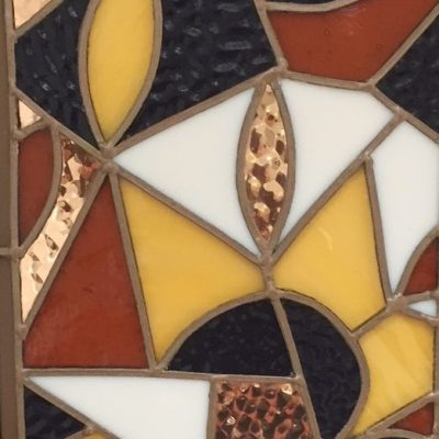 Indian fabric - copper and glass