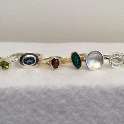 Assorted Rings - Gold, Silver & Stones - Small - by Karen Saunders