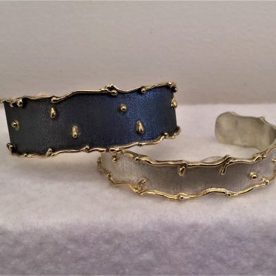 Wave Bangles - Gold & Silver - Small - by Karen Saunders