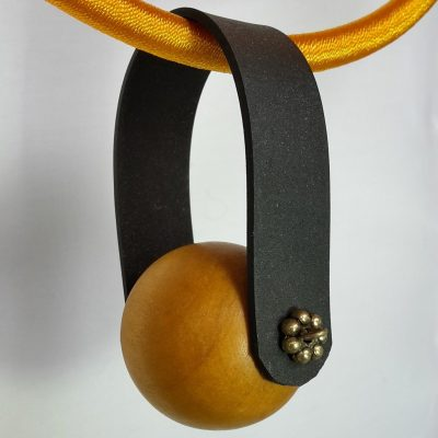 Monatomic form - Wood, EPDM, Silk - 17 inches - by Jo Strain