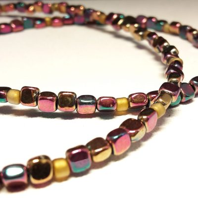 Linear bond - Anodized hematite and glass - 16