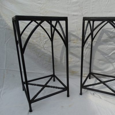 Bedside / occasional tables - Forged steel and glass - To order - by Richard Grieve