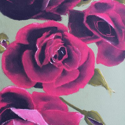 Roses - Pastel - A4 - by Donna Chapman