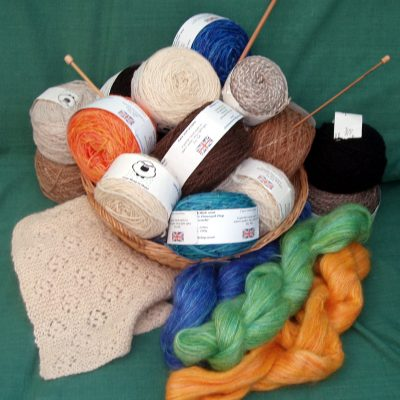 Hand spun and dyed wool - Textiles/Knitting - various - by Christine Evans