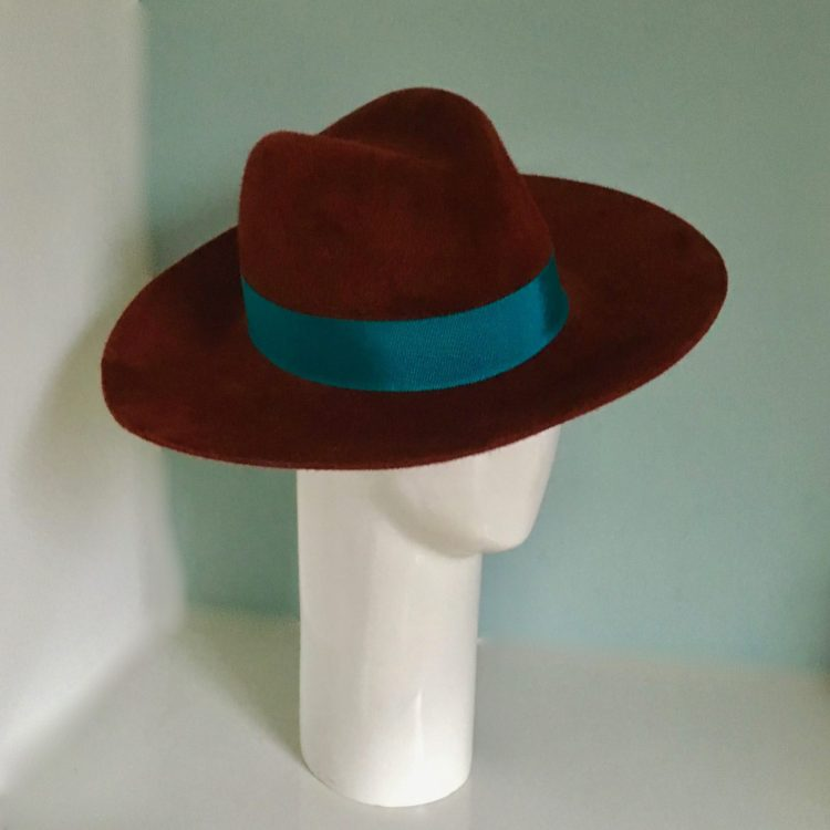 Fedora - Felt hat and vintage ribbon