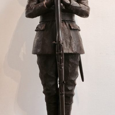 Maurice Patten - Bronze resin - Life size - by Vincent Gray