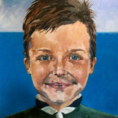 Mr C - oil on canvas - 100cm x 100cm - by Grahame Dudley