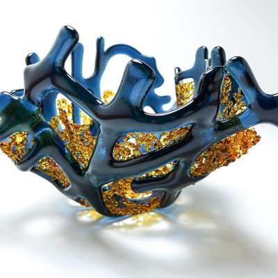 Sugar Bowl - Glass - 10h x14w x 15d cm - by Kim Tattersall