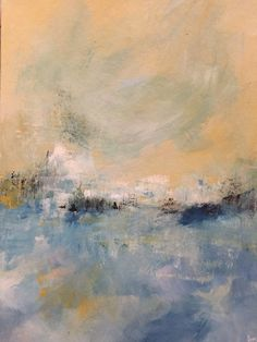 Tranquility by the Sea - Acrylic on board - 210mm x 297mm - by Amy Routledge