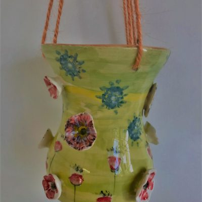 Hanging Flowers - Ceramic - 20cm High - by Sarah Sykes