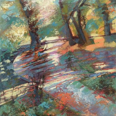 Dappled Shadows - oil on canvas - 30 x 30 cm - by Catherine Barnes