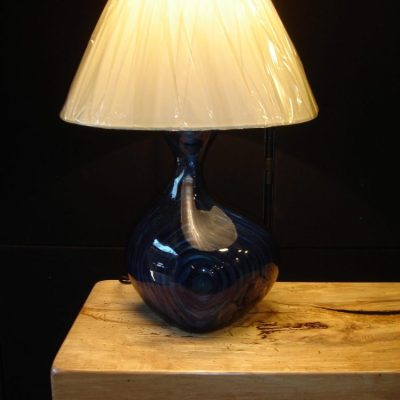 Lacquered wood lamp - wood, lacquer - 18