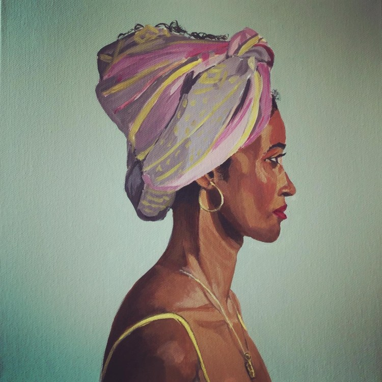 Headscarf - Acrylic on stretched canvas