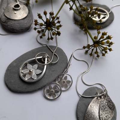 Nature Elements - various - Silver jewellery - mixed - by Gael Emmett