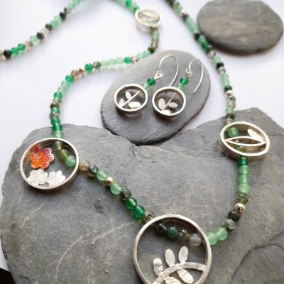 Nature Elements Necklace/Earrings - Silver Jewellery - mixed - by Gael Emmett