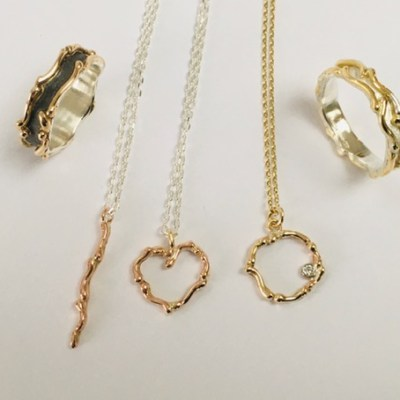 Wave Jewellery - Gold & Silver - small - by Karen Saunders