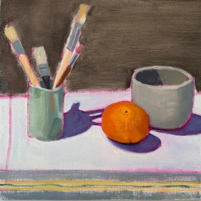 Brushes - Oil - 8 inches x 8 inches - by Laura Fletcher
