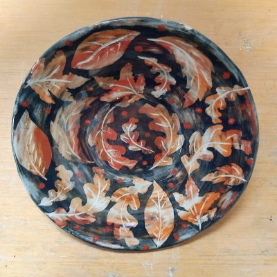 Autumn plate - Stoneware - 25cm diameter - by Marise Rose