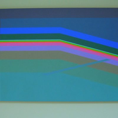 THRESHOLDS - Acrylic on Mica - 1000 X 700mm - by Martin Smith