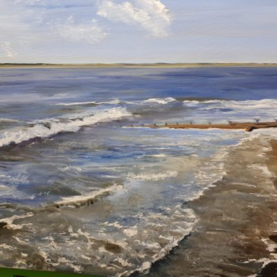 Tidal Wash - Oil  on canvas - 70 x 50 cms - by Linda Foskett