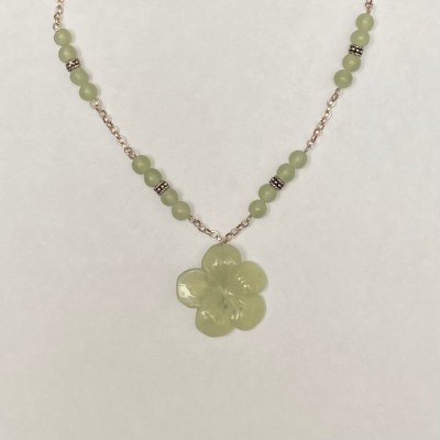 Flower - Sterling silver and semi-precious gemstone - Small - by Margaret Hurst