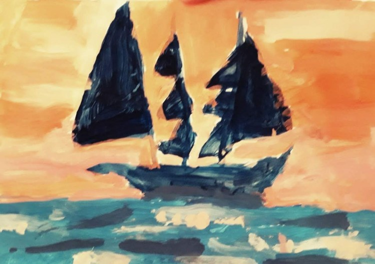 Sailing Home - Painting
