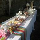 Retro sweets at Grittenham Barn wedding