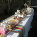 Retro sweets at Grittenham Barn wedding