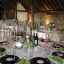 Table arrangement at Grittenham Barn Wedding - June 2012