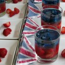 Red, White and Blue Fruit Jellies - Diamond Jubilee party