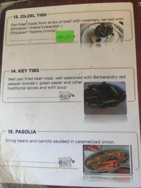 Habesha Restaurant Nairobi Menu - page 5