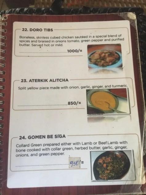 Habesha Restaurant Nairobi Menu - page 8