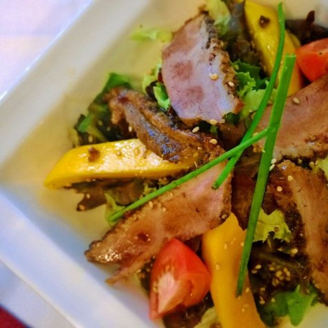 Food at Sarova Hotels' Thorn Tree Cafe