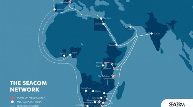 Seacom Submarine Cable Map