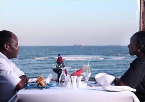 A couple at Karambezi Café SeaCliff Hotel