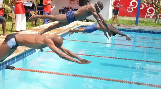 Swimmers at Funky's Dar es Salaam