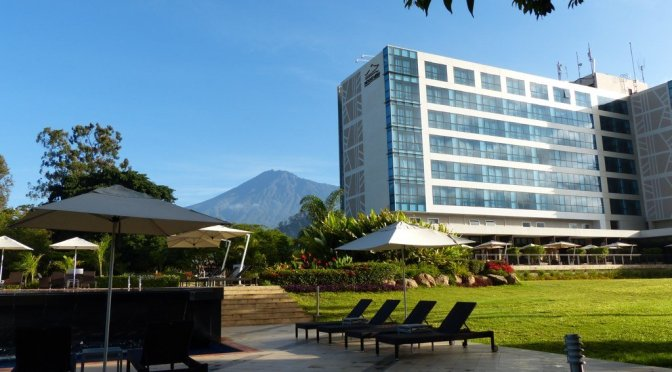 Mount Meru Hotel Arusha with Mt. Kilimanjaro in the backgound