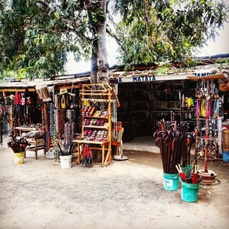 Crafts stall, Chalinze Petrol Station, Tanzania
