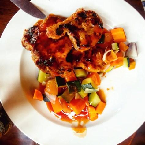 Pork Chops, The Bistro, Kampala, Uganda