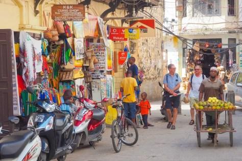 Walking through Stone Town Zanzibar