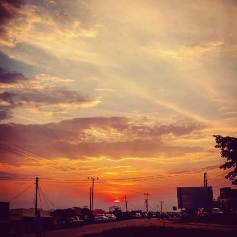 Sunset in Rushere, Uganda