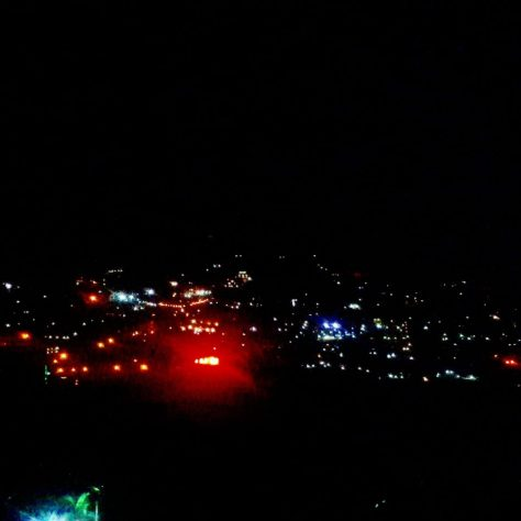 View at night from Holy Crepe Kololo