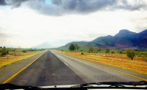 Driving through the Usambara Mountains