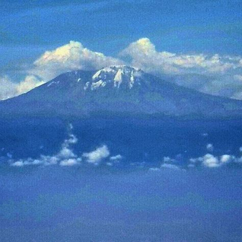 The snow-capped Kibo Peak of Mt. Kilimanjaro up close and personal.